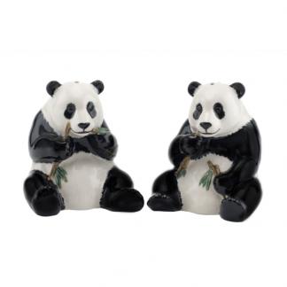 Panda salt og pepper Quail ceramics