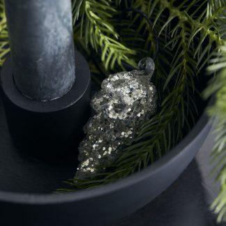 House doctor cone julepynt sølv