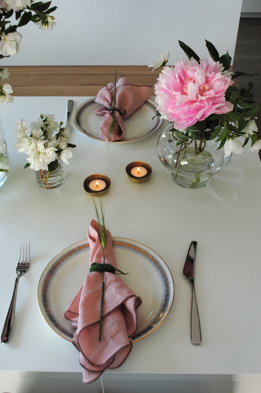 borddekking sommer, tablesetting