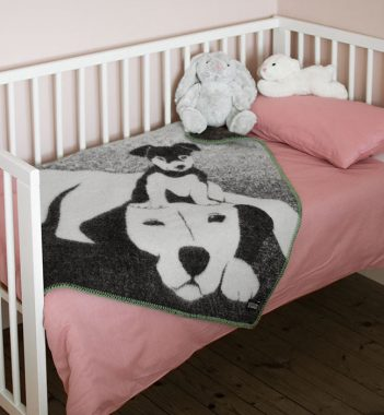 Buddies barneteppe ull Design Lina Johansson